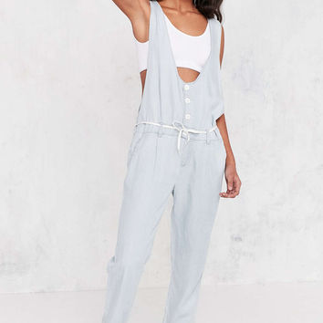 OBEY Button-Front Chambray Jumpsuit - Urban Outfitters