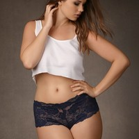 Allover Stretch Lace Boyshort