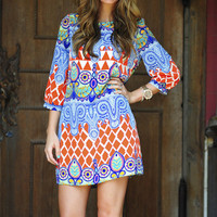 Patterned With Pride Dress: Orange | Hope's