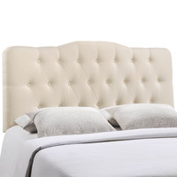 Annabel Queen Fabric Headboard in Ivory