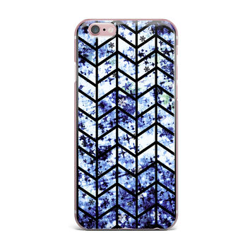"Ebi Emporium ""Chevron Wonderland II"" Blue Black iPhone Case"