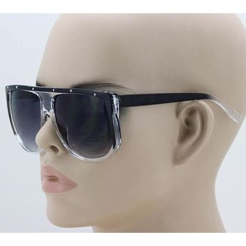 Elite Flat Top Oversized Aviator Shield Style Mens Womens Retro Sunglasses