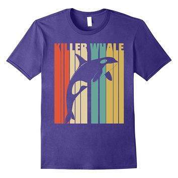 Classic Vintage Retro Killer Whale Funny Tshirt. Best Gift