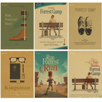 Classic film Forrest Gump Poster kraft paper Home Decor Vintage Classic Movie Poster Bar Cafe decor Wall Sticker