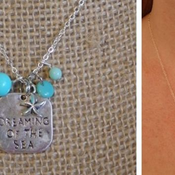 Beach Dreaming of the Sea Charms Necklaces | Perfect Gifts