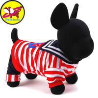 New pet Dog Clothes Stripe dog hoodies for chihuahua Pet Dog Clothing winter Coats For Dogs XXS-L