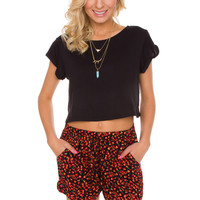 Jo Jo Crop Top in Black