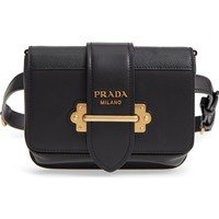 Prada Cahier Leather Belt Bag | Nordstrom