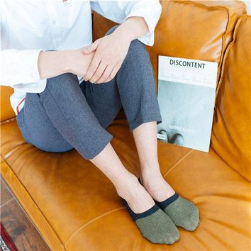 Men Anti-skid  Invisible Breathable Cotton Boat Socks