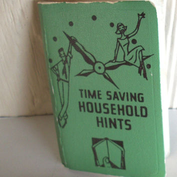 Vintage Mini Book Time Saving Household Hints Some Wear On Edges 1950s
