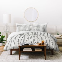 Heather Dutton Linear Cross Stone Duvet Cover