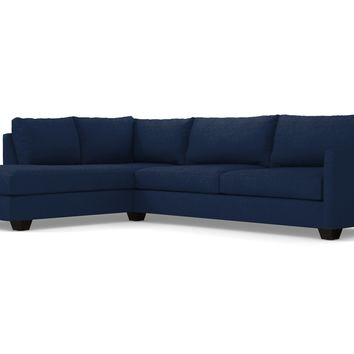 Tuxedo 2pc Sectional Sofa :: Leg Finish: Espresso / Configuration: LAF - Chaise on the Left