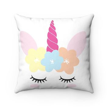Unicorn Polyester Square Pillow