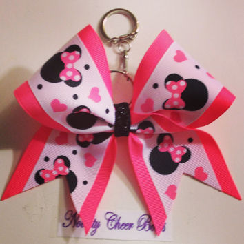 "2 1/4"" Keychain Bows- Select from Minnie, One Direction and Minion"