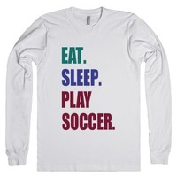 C - Play Soccer-Unisex White T-Shirt