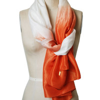 Handmade and Naturally Dyed Dip-Dye Silk Scarf