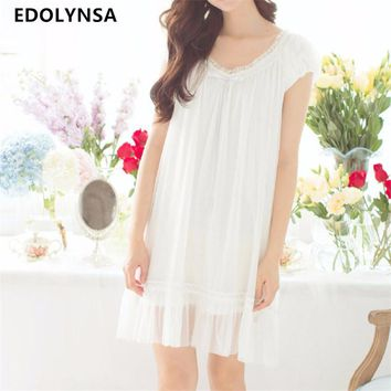 Nightgowns Sleepshirts 2017 Sexy Sleepwear Romantic Sleep & lounge Solid Sleep Wear Nightwear Home Dress Lace Nightdress #H217