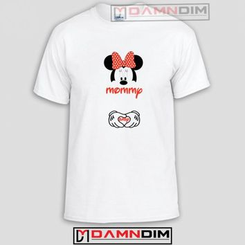 Mommy and Baby Minnie Mouse Funny Graphic Tees