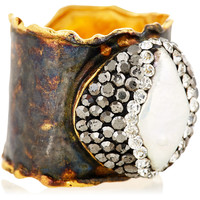 Mother-of-Pearl Pavé Ring, Stone & Novelty Rings