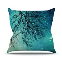 "Kess InHouse Sylvia Cook ""Winter Moon"" Outdoor Throw Pillow, 20 by 20-Inch"
