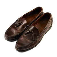 Allen Edmonds Kingfield Brown Leather Tassle Loafers Mens Size 9 1/2