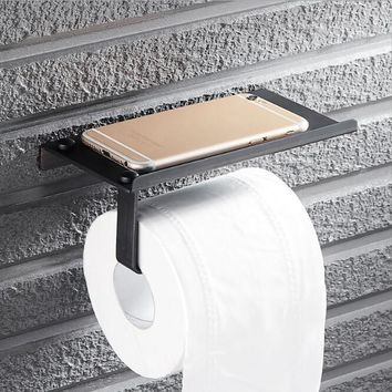 Antique Bathroom paper roll holder with phone holder