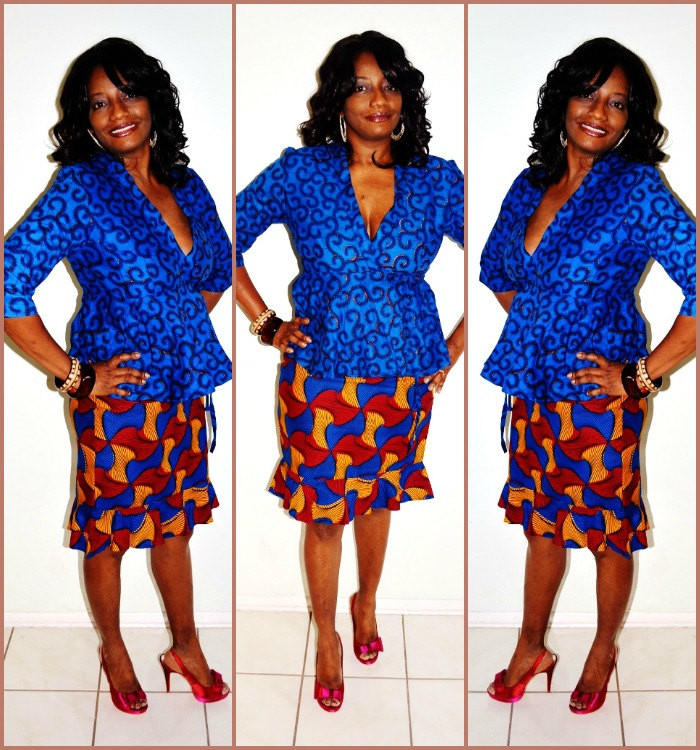 Blue And Yellow African Print Dress, from zabbadesigns.com