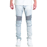 Embellish NYC Gorgeous Biker Jeans In Light Blue