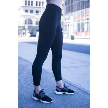 3/4 Black Compression Leggings