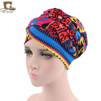 ONETOW New African Design Headscarf Long Head Scarf Jewish Headcover Turban Shawl Warp Hair African Bohemian Headwrap Chemo Turbante