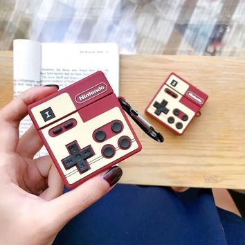 Old School Game Controller Silicone Protective Airpod Case