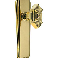 Art Deco Door Set In Unlacquered Brass