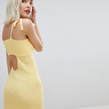 Emory Park Tie Shoulder Cami Dress In Fine Rib Knit at asos.com