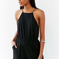 Silence + Noise High-Neck Seamed Romper - Urban Outfitters