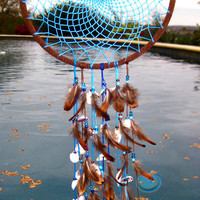 Blue Sea Shell Dream Catcher