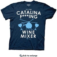 Step Brothers Catalina F***ing Wine Mixer Navy Heather Mens T-shirt - Step Brothers - | TV Store Online