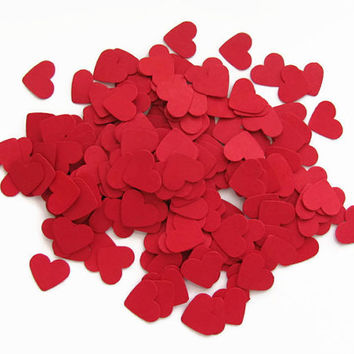 Red Heart Confetti,Valentines Day Decor, Wedding Decor,Confetti, Party Decorations, 200 Red Hearts