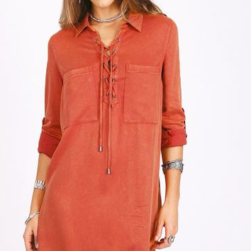 Resilient Hope Dress in Rust