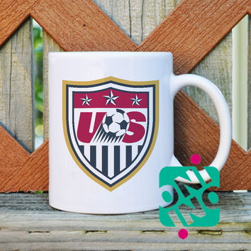 US Soccer Logo Coffee Mug, Ceramic Mug, Unique Coffee Mug Gift Coffee