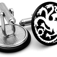 Game Thrones Targaryen Dragon Cufflinks
