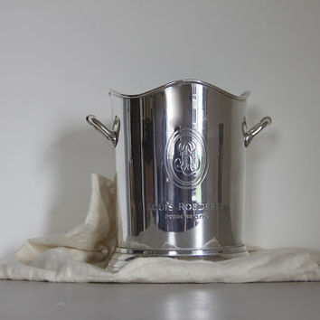 French Vintage Champagne Bucket  Louis Roederer Cristal Champagne