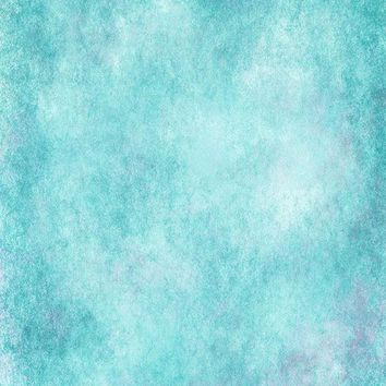 Printed Textured Grunge Cloudy Aqua and Light Purple Backdrop - 6951
