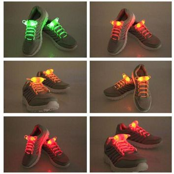 PEAP2Q shoelace party skating charming led flash light up glow shoe laces shoestrings flashing colored neon luminous for men women