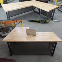 Executive Desk - Modern, Industrial L Shape Office Desk - The Carruca - Apple store style
