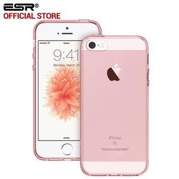 ESR Crystal Clear Ultra Slim Light Weight Hybrid Case Soft TPU Hard Back Cover for iPhone 5/5s/5se