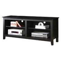 "Walker Edison Wood TV Stand - Black (58"")"