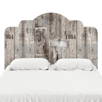 Aged Wood Printing Headboard Decal