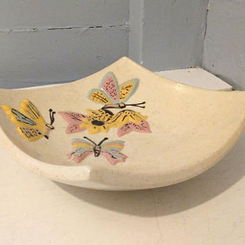 Vintage, Butterfly, Dish, Decorative, Mid Century Style, Square, Jewelry Dish, Change Dish, Catch-All, Home Decor, RhymeswithDaughter