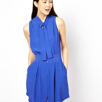 See By Chloe Crepe Dress with High Neck