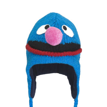 Sesame Street - Grover Head Peruvian Knit Hat